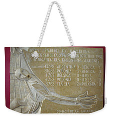 Weekender Tote Bag featuring the photograph Camp Nou 1982 by Juergen Weiss
