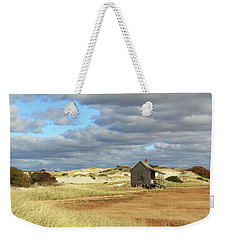 Weekender Tote Bag featuring the photograph Camp On The Marsh And Dunes by Roupen  Baker