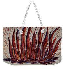 Campfire Flames Weekender Tote Bag by Theresa Willingham