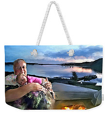 Camping With Grandpa Weekender Tote Bag