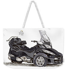 Weekender Tote Bag featuring the painting Can-am Spyder Trike by Jack Pumphrey