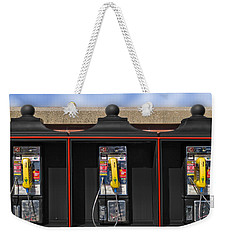 Can You Hear Me Now Weekender Tote Bag by Paul Wear