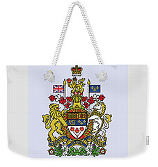 Weekender Tote Bag featuring the drawing Canada Coat Of Arms by Movie Poster Prints