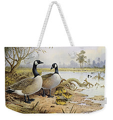 Canada Geese Weekender Tote Bag by Carl Donner