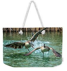 Canada Geese Chase 4906 Weekender Tote Bag