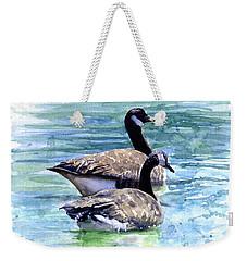 Canada Geese Weekender Tote Bag by John D Benson