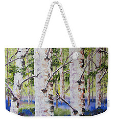 Canadian Autumn Birch Weekender Tote Bag