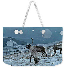 Canadian Elk By Moonlight Weekender Tote Bag