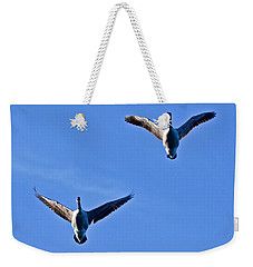 Weekender Tote Bag featuring the photograph Canadian Geese 1644 by Michael Peychich