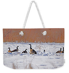 Canadian Geese At Sunrise I Weekender Tote Bag