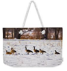 Canadian Geese At Sunrise II Weekender Tote Bag
