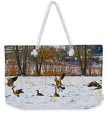 Canadian Geese At Sunrise IIi Weekender Tote Bag