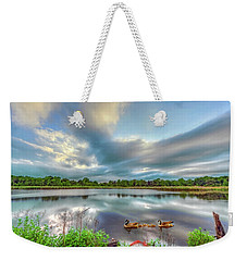 Canadian Geese On A Marylamd Pond Weekender Tote Bag