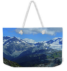 Weekender Tote Bag featuring the photograph Canadian Glacier Summer Time by Walter Fahmy