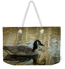 Weekender Tote Bag featuring the painting Canadian Goose by Steven Richardson