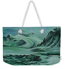 Weekender Tote Bag featuring the painting Canadian North by Anna  Duyunova