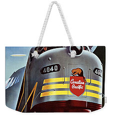 Canadian Pacific - Railroad Engine, Mountains - Retro Travel Poster - Vintage Poster Weekender Tote Bag