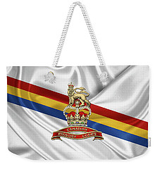 Canadian Provost Corps - C Pro C Badge Over Unit Colours Weekender Tote Bag by Serge Averbukh