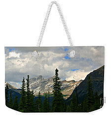 Canadian Rockies, Alta. Weekender Tote Bag by Elfriede Fulda