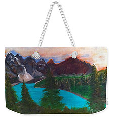 Canadian Rocky Mountain Lake Weekender Tote Bag