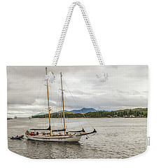 Canadian Sailing Schooner Weekender Tote Bag by Timothy Latta