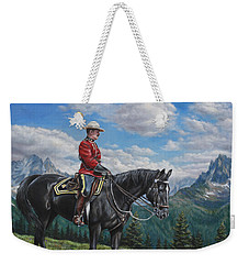 Weekender Tote Bag featuring the painting Canadian Majesty by Kim Lockman