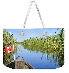 Weekender Tote Bag featuring the photograph Canadians In Africa by Betty-Anne McDonald
