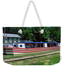 Weekender Tote Bag featuring the photograph Canal Boat by Gary Wonning