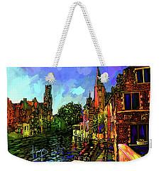Canal In Bruges Weekender Tote Bag by DC Langer