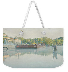 Weekender Tote Bag featuring the photograph Canal In Pastels by Everet Regal