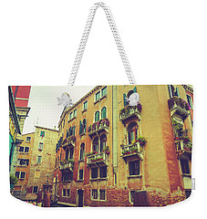 Canal In Venice, Italy Weekender Tote Bag