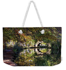 Canal Path In Autumn Weekender Tote Bag