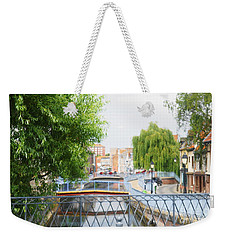 Weekender Tote Bag featuring the photograph Canal View In Amiens by Therese Alcorn