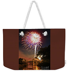 Canal View Of Fire Works Weekender Tote Bag