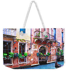 Weekender Tote Bag featuring the photograph Canals Of Venice # 5 by Mel Steinhauer
