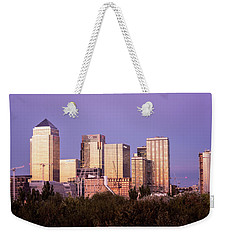 Canary Wharf Sunset Weekender Tote Bag