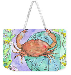 Weekender Tote Bag featuring the painting Cancer by Cathie Richardson