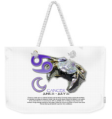 Cancer Sun Sign Weekender Tote Bag