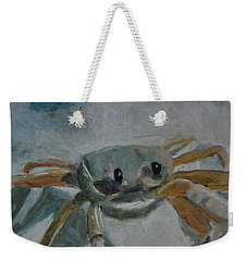 Weekender Tote Bag featuring the painting Cancer's Are Not Crabby by Billie Colson