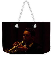 Weekender Tote Bag featuring the photograph Cancon Primi Toni - Trumpet by Miroslava Jurcik