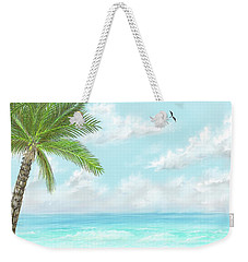 Weekender Tote Bag featuring the digital art Cancun At Christmas by Darren Cannell