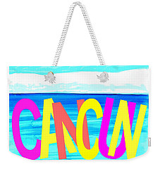 Cancun Poster T-shirt Weekender Tote Bag by Dick Sauer