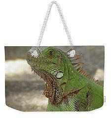 Candid Of A Green Iguana Weekender Tote Bag by DejaVu Designs