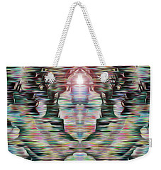 Weekender Tote Bag featuring the digital art Alignment by Mark Greenberg