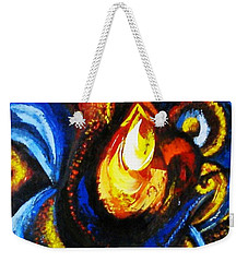 Weekender Tote Bag featuring the painting Candle In Your Heart by Harsh Malik