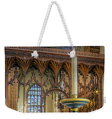Weekender Tote Bag featuring the photograph Candle Of  Prayer by Ian Mitchell