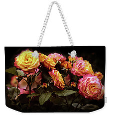 Candlelight Rose  Weekender Tote Bag by Jessica Jenney