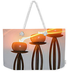 Candles In The Wind Weekender Tote Bag by Kristin Elmquist