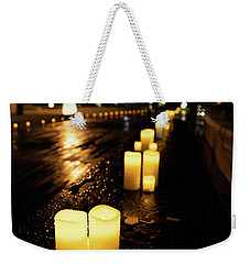 Candles On The Beach Weekender Tote Bag