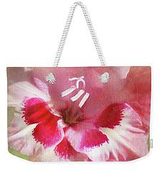 Candy Cane Gladiola Weekender Tote Bag